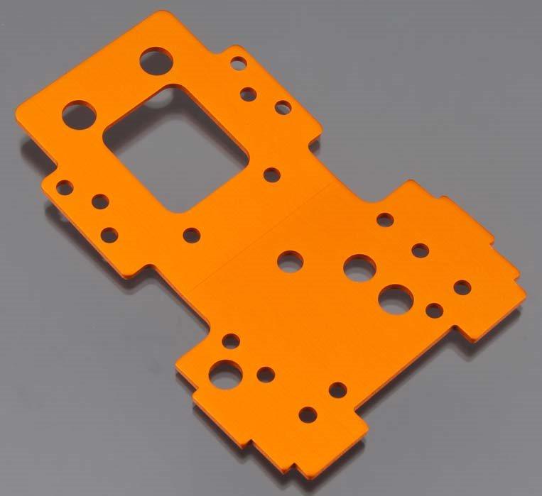 HPI Bulkhead Lower Plate 2.5mm (Orange)
