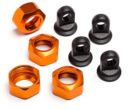 HPI Shock Caps For 101090, 101091 And 101185 Trophy Series, 4Pcs (Or