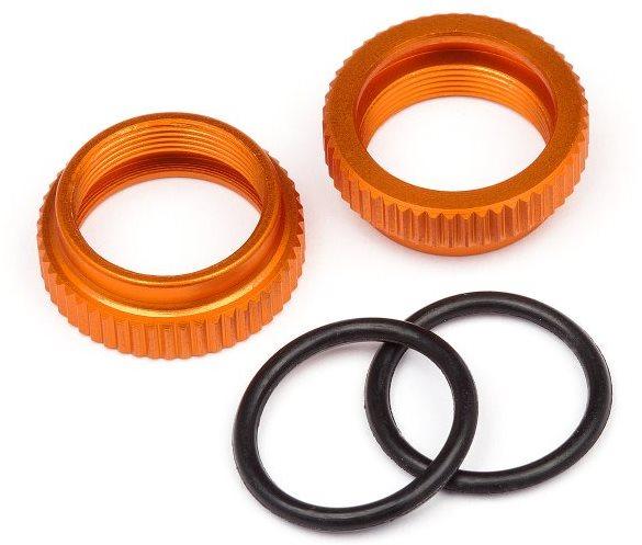 HPI Orange Aluminum Shock Adjuster, For The Savage Xs (2Pcs)