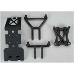 Skid Plate Shock Tower Set E-Savage