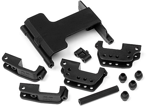 HPI Servo Mount/High Link Bracket Set, Wheely King