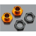 Hex Wheel Adapters 5mm Org/Blk Trophy Buggy