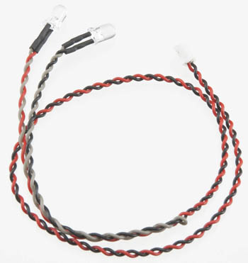 Axial Double LED Light String Red