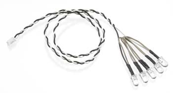 Axial 5 LED Light String White
