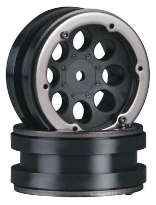 "Axial 8-Hole 1.9\"" Beadlock Wheel Black (2)"