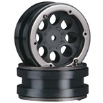"8-Hole 1.9"" Beadlock Wheel Black (2)"