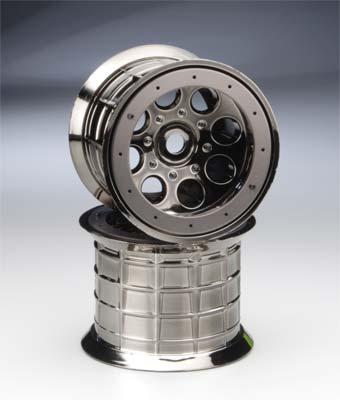 Axial Oversize Beadlock 8-Hole Wheel 17mm Blk Chrm (2)