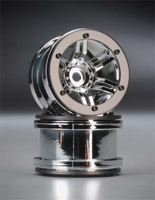 "Axial Rocksters 2.2\"" Beadlock Wheel Chrome (2)"