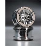 "Axial Rocksters 2.2"" Beadlock Wheel Chrome (2)"