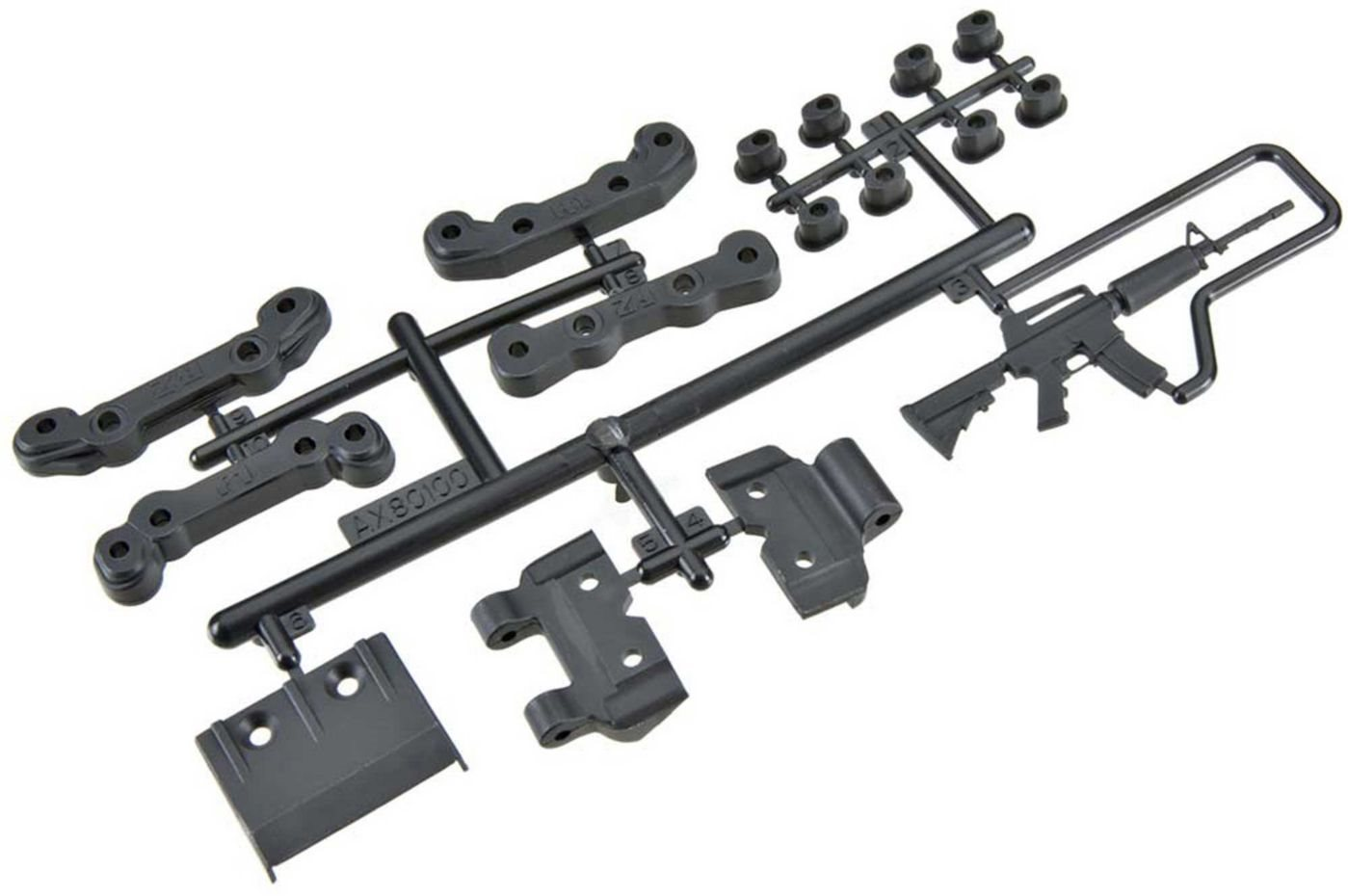 Axial Chassis Guard/Toe Block Insert Set Fr/Re