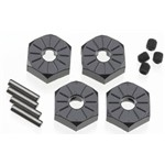 Axial Aluminum Hub Narrow 12mm Black (4)