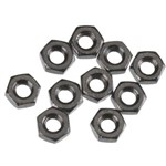 Axial Thin Hex Nut M3 Black (10)