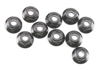 Axial Nylon Locknut M4 Black (10)