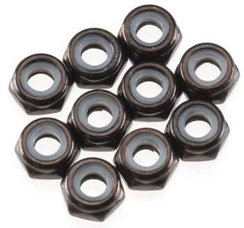 Axial Thin Nylon Locking Hex Nut M3 Black (10)