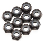Thin Nylon Locking Hex Nut M3 Black (10)