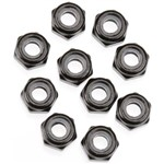 Nylon Locking Hex Nut M3 Black (10)