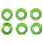 Cone Washer 3x6.9x2mm Green (6)