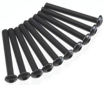 Axial Hex Socket Button Head M3x25mm Black (10)
