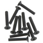 Axial Hex Socket Flat Head M3x18mm Black (10)