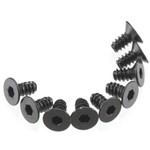 Axial Hex Socket Tap Flat Head M3x6mm Black (10)