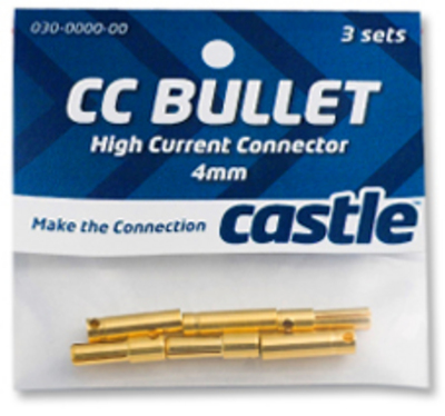 Castle Creations CCBUL4X3 4mm Bullet Conn 16G/13G 75A (3)