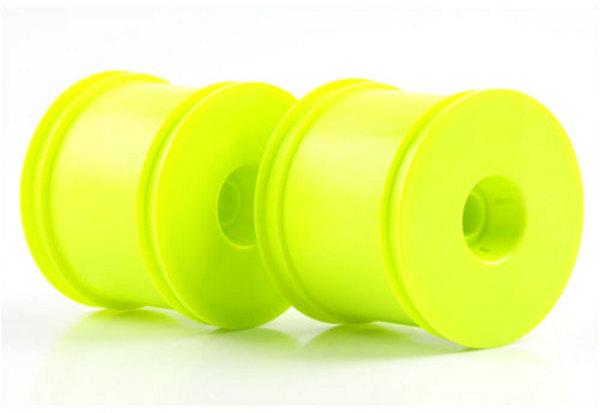 """Kyosho Kyosho 2.2"""" Quick Change Stadium Truck Wheel (Yellow) (2) ("""