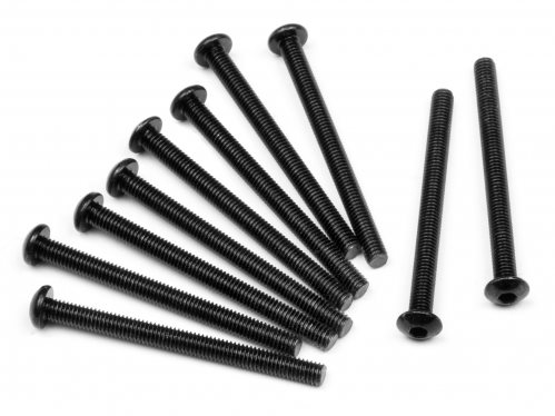 HPI Button Head Screw, M3x35mm, Hex Socket, (10Pcs)