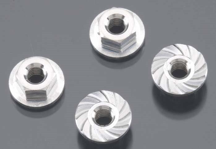 HPI Serrated Flange Nut M4x10.8mm Blitz (4)