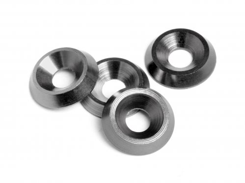 HPI Cone Washer, 3X9x2mm, Gunmetal, (4Pcs), E10