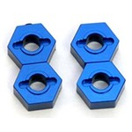 CNC Mach Alum Hex Adapters Slash 4x4 Blue