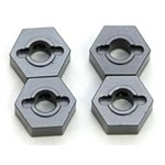 CNC Mach Alum Hex Adapters Slash 4x4 Gun Metal