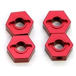 CNC Mach Alum Hex Adapters Slash 4x4 Red