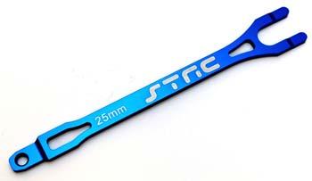 ST Racing Concepts Alum Pro Racing Battery Strap Blue Slash