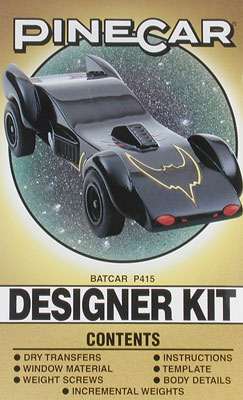 Pinecar Designer Kit Batcar
