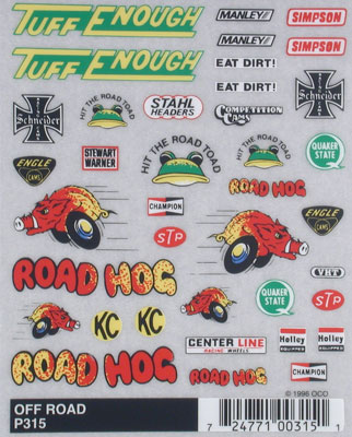 Pinecar Off-Road Dry Transfer Decals