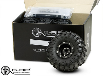 Gmade 2.2 G-Air Beadlock Wheel System w/Tires & Accessories (4)