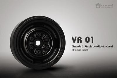 Gmade 1.9 VR01 Beadlock Wheels (Black) (2)