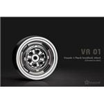 1.9 VR01 Beadlock Wheels (Chrome) (2)