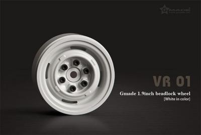Gmade 1.9 VR01 Beadlock Wheels (White) (2)
