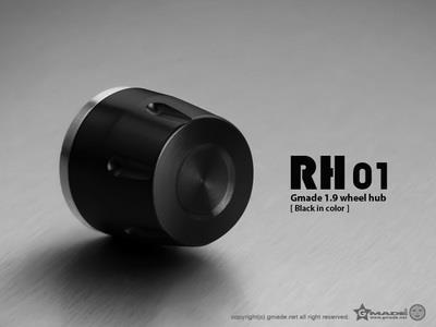 Gmade 1.9 RH01 Wheel Hub Set (Black) (4)