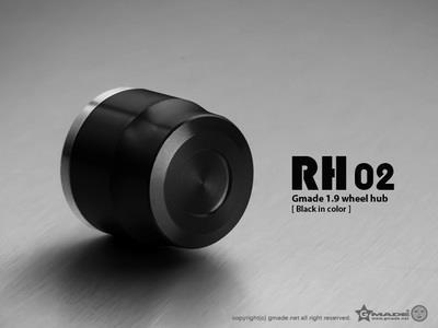 Gmade 1.9 RH02 Wheel Hub Set (Black) (4)
