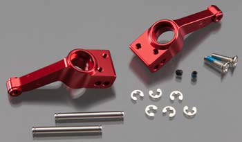 Traxxas Stub Axle Carriers (Rear) Red-Anodized 6061-T6 Aluminum