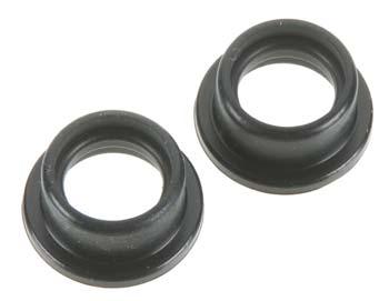 HPI Shaped Exhaust Gasket (Black/2pcs)