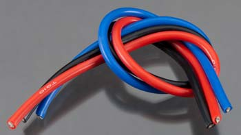 TQ Wire Products 10 Gauge Wire 1\' Brushed Kit Black/Red/Blue