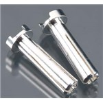 18mm 4mm Bullet Male Connectors Silver (pr)