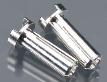 TQ Wire Products 14mm 4mm Bullet Male Connectors Silver (pr)