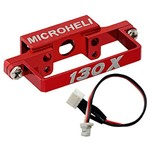 Alum DS35 Tail Servo Mount w/Cable, Red:Blade 130X