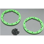 Traxxas Sidewall Protector, Beadlock (Green) Use With Geode Wheels