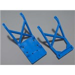 Traxxas Skid Plates, Front & Rear (Blue)