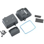 Traxxas Box, Reciever (Sealed)/ Foam Pads/ 2.5X12mm Cs (2)/ 3X6mm Cs (2)